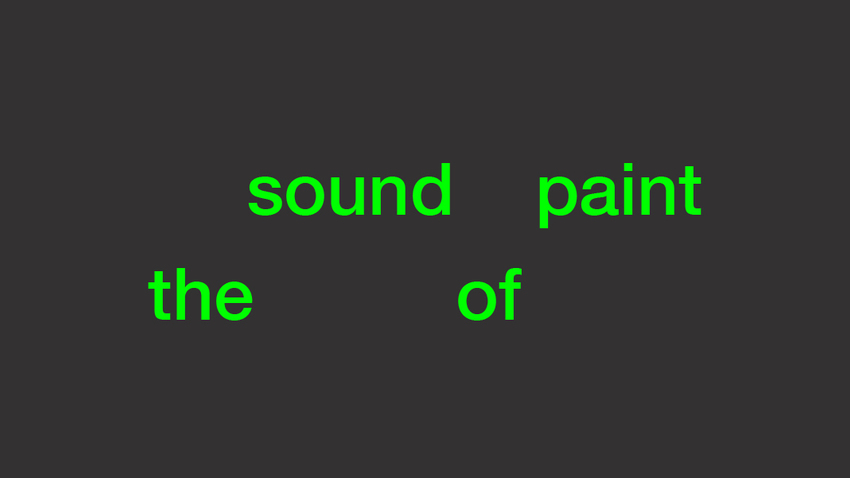 The Sound of Paint