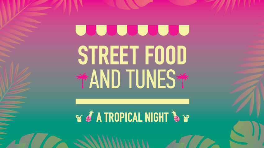 Street Food and Tunes: A Tropical Night