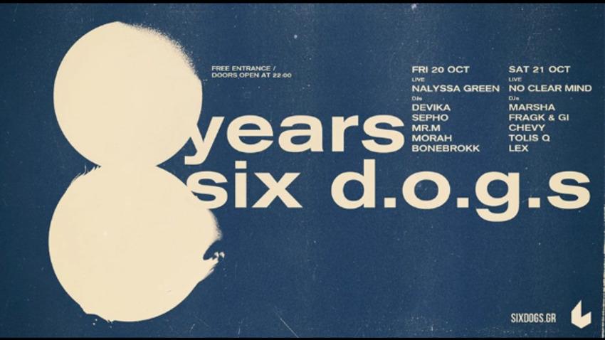 8 years six d.o.g.s.
