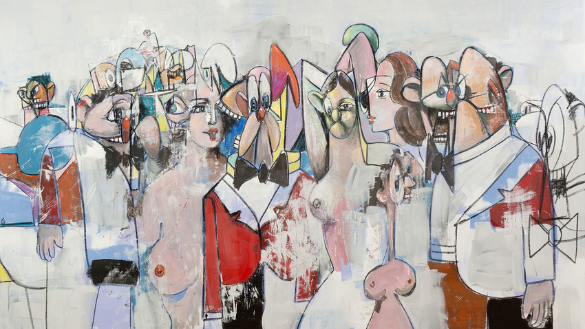George Condo at Cycladic
