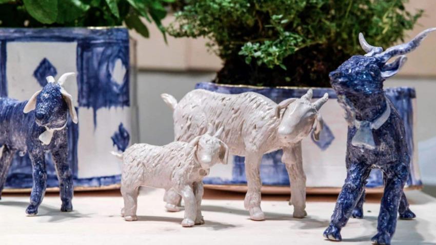 Blanc and Bleu: Ομαδική έκθεση | «ΕΓΙΝΑ ΑΙΓΙΝΑ»