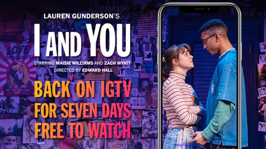 To «I and You» από το θέατρο Hampstead του Λονδίνου online στις οθόνες μας!