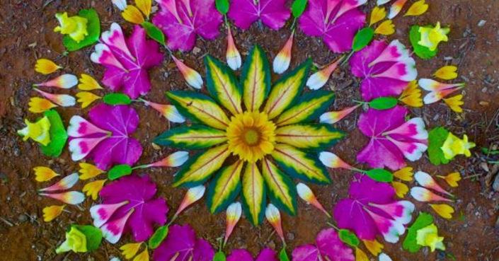 Δημιουργήστε πολύχρωμα Mandala με στοιχεία της φύσης!